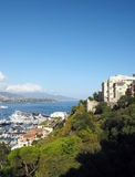 Panoramic view  harbor port Monte Carlo Monaco Europe Stock Images