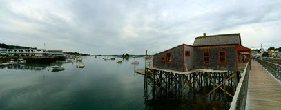 Panoramic view harbor Royalty Free Stock Photography