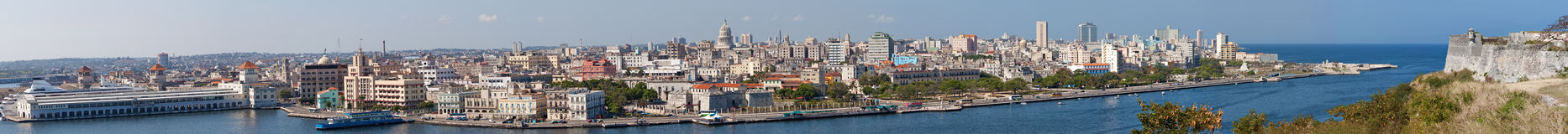 Panoramic view of Havana Royalty Free Stock Image