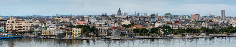 Panoramic view on Havana, Cuba Stock Photos