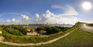 Panoramic view of Havana from el Morro Fortress Stock Photos