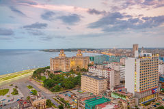 Panoramic view of Havana at sunset Stock Photo