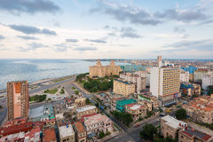 Panoramic view of Havana at sunset Royalty Free Stock Image