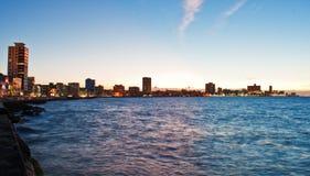 Panoramic view of Havana waterfront aka Malecon Royalty Free Stock Photos