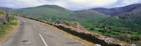 Panoramic view of Healy Pass, Cork, Ireland Stock Images