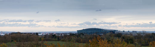 Panoramic view of Heathrow Terminal 5 Stock Photo