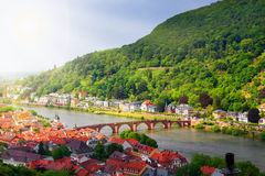 Panoramic view of the Heidelberg Royalty Free Stock Images