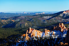 Panoramic view at a height of Bryce Canyon in Utah Royalty Free Stock Image