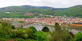 Panoramic view of Heildelberg, Germany Royalty Free Stock Photography
