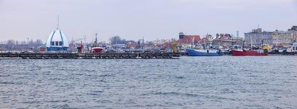Panoramic view of Hel. Hel, Pomerania, Poland Stock Photos
