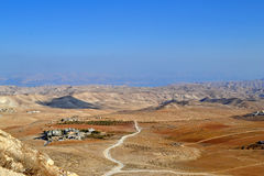 Panoramic View From Herodian. The villages of the desert in Israel stock image