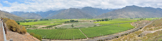Panoramic view of the Hex River Valley Stock Photos