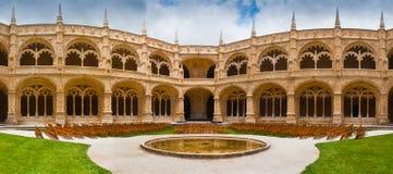 Jeronimos Monastery Cloister Panoramic Stock Image