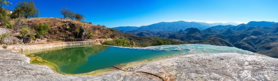 Hierve el Agua in the Central Valleys of Oaxaca. Mexico Royalty Free Stock Image