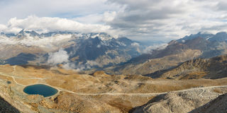 Panoramic view of High Alpine Scenery Royalty Free Stock Photography