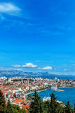 Panoramic view from high on Croatian city of Split Stock Image