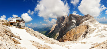 Panoramic view of high mountain in Italy Stock Images