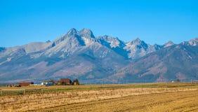 Panoramic view of High Tatras mountain range royalty free stock image