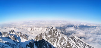 Panoramic view of the High Tatras, Slovakia royalty free stock images
