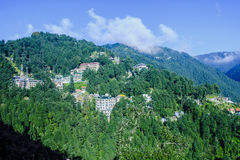 Panoramic view of hill station Stock Photos
