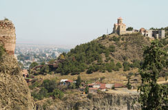 Panoramic view of hills around Tbilisi, Georgia Royalty Free Stock Photography