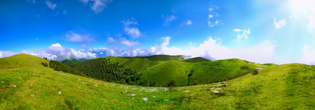 Panoramic view of hills Royalty Free Stock Photography