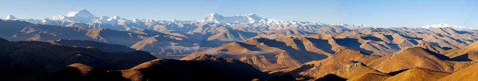 Panoramic view of Himalayas Royalty Free Stock Images