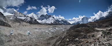 Panoramic view of the Himalayas Stock Images
