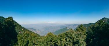 Panoramic view of The Himalayas. Royalty Free Stock Photos