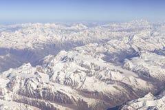 Panoramic view of Himalayas stock photos