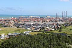Panoramic view of Hirtshals, Denmark. royalty free stock photography