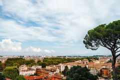 Panoramic view of the historic center of Rome Stock Photography