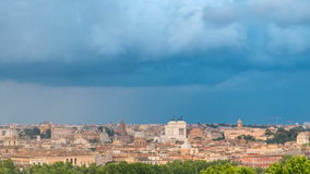 Panoramic view of historic center timelapse of Rome, Italy stock video