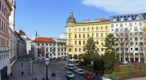 Panoramic view of the historic city centre. Vienna, Austria. Royalty Free Stock Photography