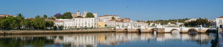Panoramic view of the historic city Tavira, in Algarve, Portugal Royalty Free Stock Image