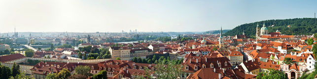 Panoramic view of historical buildings in Prague, Czech Republic Royalty Free Stock Photography