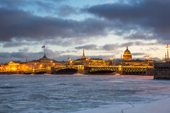 Panoramic view of the historical center of Saint Petersburg Royalty Free Stock Image