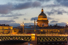 Panoramic view of the historical center of Saint Petersburg Stock Photos