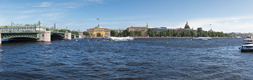Panoramic view on the historical center of Sankt Petersburg Royalty Free Stock Photo
