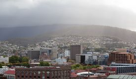 Hobart Town Panorama Royalty Free Stock Images
