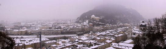 Panoramic view from Hohensalzburg fortress old castle in Salzburg Royalty Free Stock Photo
