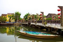 Panoramic view of Hoi An old town, Vietnam Royalty Free Stock Photos