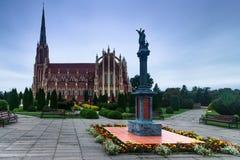 Panoramic view of Holy Trinity catholic church. Gervyaty. Belarus. Stock Image
