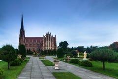 Panoramic view of Holy Trinity catholic church. Gervyaty. Belarus. Royalty Free Stock Photos