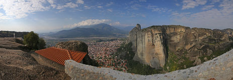 Panoramic view from the Holy Trinity Monastery Royalty Free Stock Photo