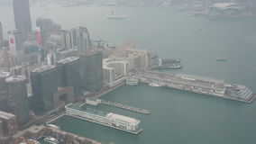 A panoramic view of Hong Kong stock video