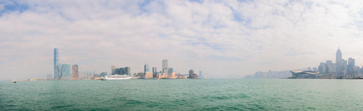 Panoramic view of the Hong Kong skyline Royalty Free Stock Photography