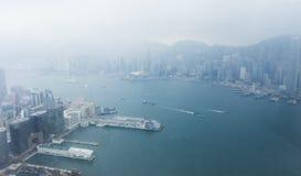 A panoramic view of Hong Kong. Royalty Free Stock Photo