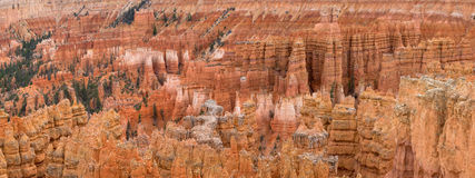 Panoramic view of hoodies in Bryce canyon stock photo