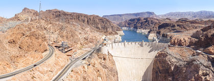 Panoramic view of the Hoover Dam, USA Stock Image